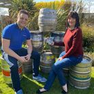 Alex and Lizzie Brake, brother and sister, owners of the Bird in Hand pub and restaurant. Photo: Ale
