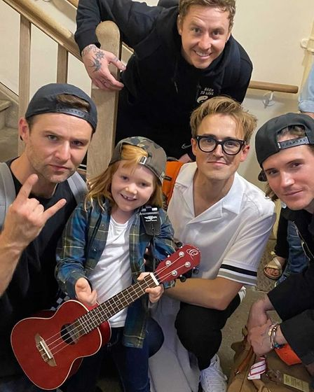 McFly with Audrina Hatton-Wright after the Newmarket show