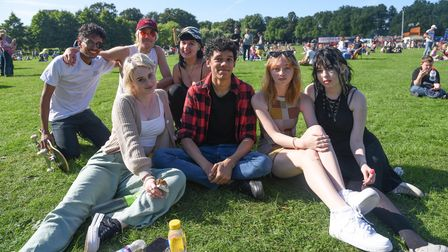 A group of friends enjoying King's Lynn Festival Too. Picture: Danielle Booden