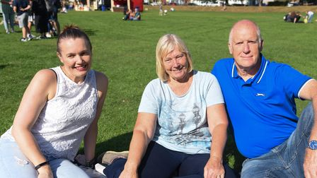 Alison Pottle and Mary and Tony Pepper at King's Lynn Festival Too. Picture: Danielle Booden