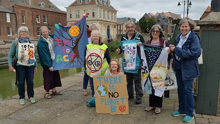 More than 60 people gathered on King's Staithe Square to mark the end of the COP26 pilgrimage in King's Lynn.