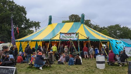 The Jeremiah Marques Stage and Cafe Chameleon at Maui Waui Festival in Gressenhall. Picture: Daniell