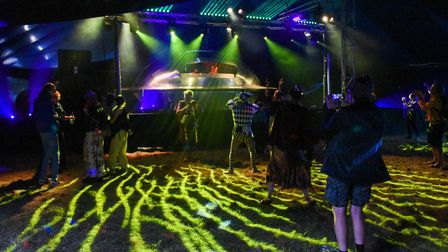 The Outer Limits stage at Maui Waui Festival in Gressenhall. Picture: Danielle Booden