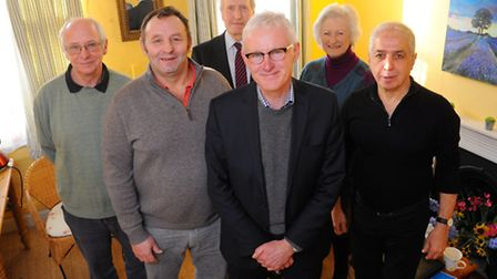 Norman Lamb visiting mental health charity for ex-servicemen Stand Easy. Photo : Steve Adams