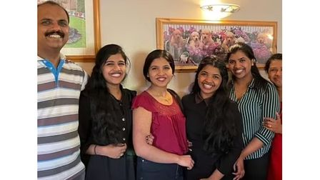 Mum Joby Shibu Mathew has inspired her quadruplet daughters to join her working for the NHS.