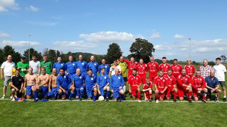 Budleigh footballers commemorate a club legend