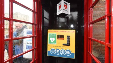 A defibrillator is being unveiled in the small Suffolk village of Redlingfield