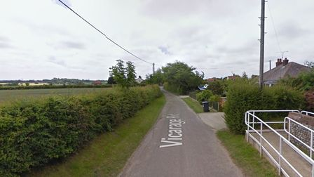 Vicarage Road in Paston where a woman was harassed by a man who touched himself inappropriately.