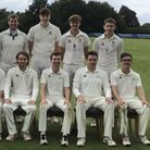 High Roding Cricket Club's first team after winning promotion