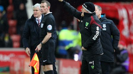 Norwich manager Alex Neil may have to shuffle his pack again for the trip to Bournemouth. Picture by