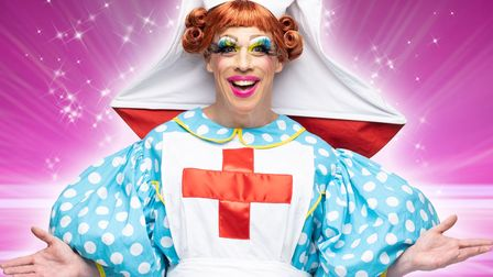 KD Theatre Productions return to The Maltings in Ely with pantomime 'Sleeping Beauty'. Terry Gauci is Nurse O_Dear.
