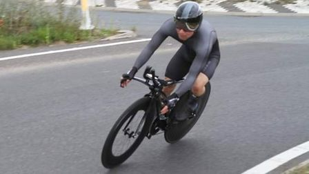 Darran Bennett in action for Ely Cycling Club