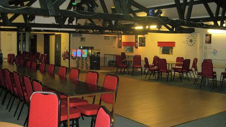 The clubhouse with dancefloor and disco at Croft Country Club near Wisbech