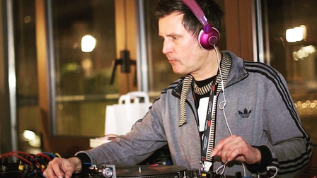 Ben Osborne DJing - he will be at the Woodbridge Festival of Art and Music