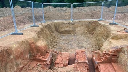 A kiln has been found at landeast of Constable Country Medical Centre on Heath Road, East Bergholt.