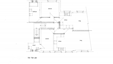 The proposed layout for the first floor of the converted office space, transformed into single bedroom flats.