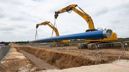 Pipe laying by Anglian Water