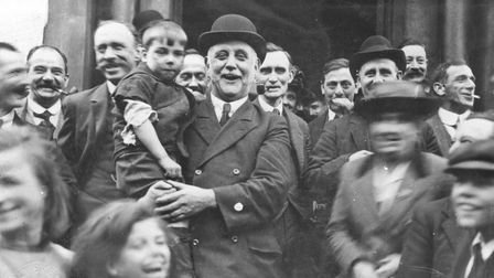 George Lansbury after 'the people's victory' in Poplaragainst rates levy in 1921