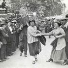 George Lansbury's daughter Minnie Lansbury, one of 30 Poplar councillors led off to prison in defiance
