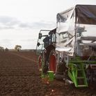Tractor tilling soil in East Anglia