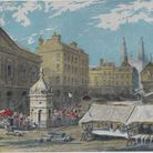 Market Square 1840 before fire