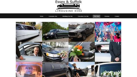 The fleet of limousines as advertised on the Essex & Suffolk Limousine Hire website