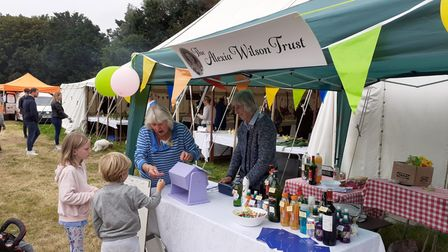 The Alexia Wilson Trust's bottle stall fundraiser at theCountess of Warwick's Show,Little Easton Manor, Essex