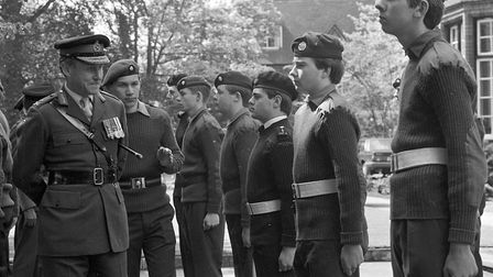 The Ipswich School combined cadet force inspection in May 1986. Were you there? EADT 18.10.10
