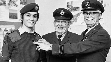 From The Archives Woodbridge ATC Cadet of the year award March 1979Neg 66179EADT 10