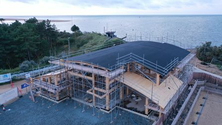 A new lifeboat station is being built at Wells-next-the-Sea