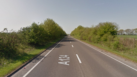 Police were called to the A134 at Long Melford