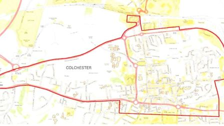 The area of the dispersal order in Colchester