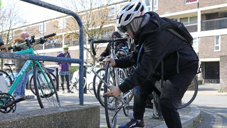 Taking care to keep bikes safe from theft