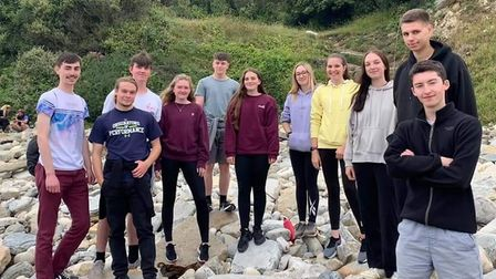 Ely air cadets on Duke of Edinburgh expedition near Swanage