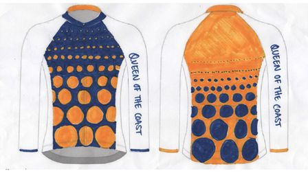 Women's Tour cycling jersey design by Hannah