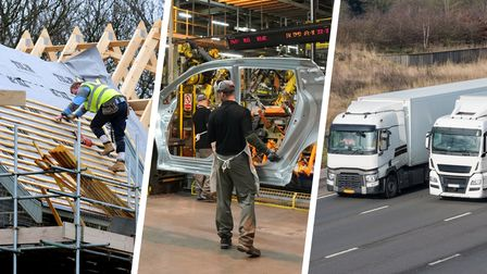 Suffolk has a high numberof job vacancies in the construction, manufacturing and distribution sectors