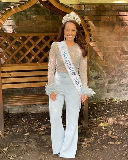 Natasha was crowned Mrs Atlantic 2021/22 earlier this year after taking part in the competition virtually.