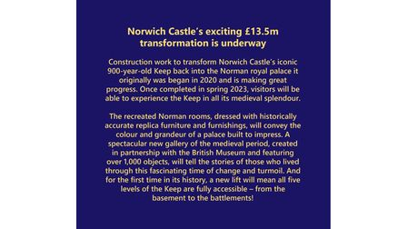 Norwich Castle's exciting Royal Palace Reborn project
