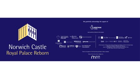 Norwich Castle Royal Palace Reborn Project is supported by local businesses