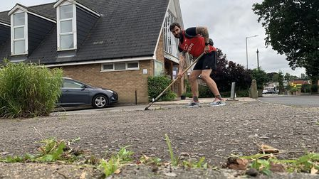 Members of GoodGym Norwich have also carried out gardening tasks at Oak Grove Community Church
