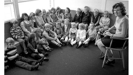 The opening of Coldfair Green School, Knodishall, in September 1975.