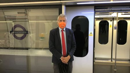 Unmesh Dessai inspects Elizabethline... but has to wait a year before he can catch the first train
