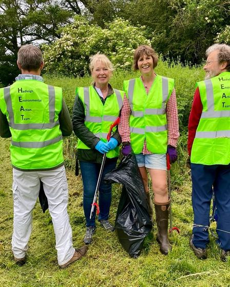 The team of volunteers at HEAT on a litter pick