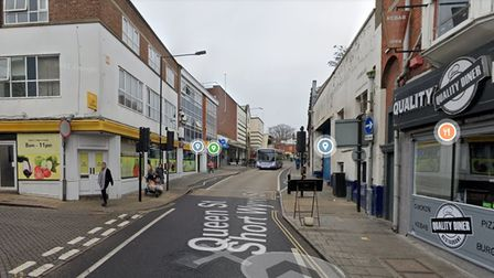 St Botolph's Street in Colchester. The town centre has been subject to a dispersal order.