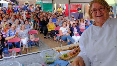 Rosemary Shrager at Newmarket Food andDrink Festival 2019.