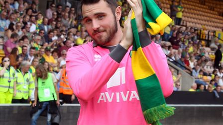Norwich City back-up keeper Jake Kean is off to Colchester on a short-term loan. Picture by Paul Che