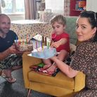 Leigh Pipe, baby Bodhi and Sammy-Jo. It took the couple eight years to get to the bottom of their infertility problems