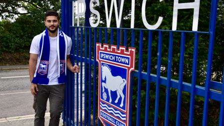 Sam Morsy has arrived at Ipswich Town's Playford Road training ground