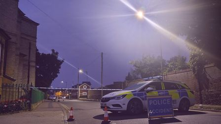 Part of Moulton Road in Newmarket has been closed following a police incident