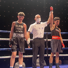 Miguel Rodriguez has his hand raised after a thrilling double debut